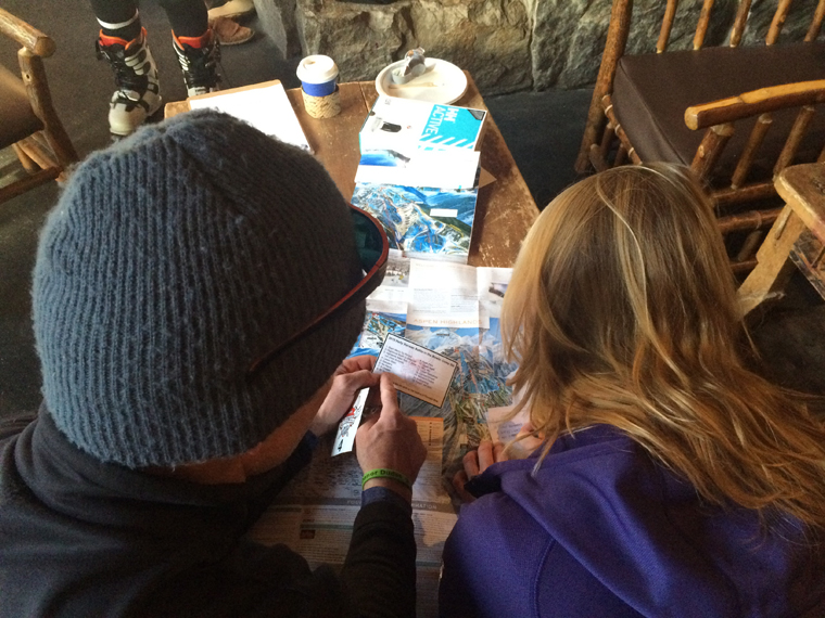 Abi and Chris plan their route