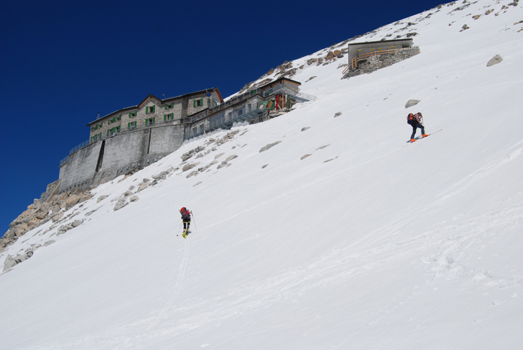 Skinning up to the Caduti dell'Adamello hut in Passo Tonale | Martin Chester