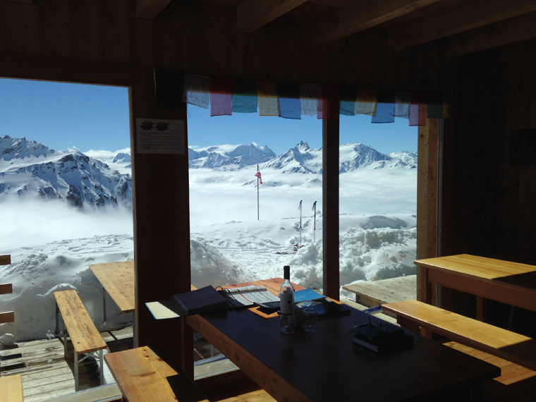 Not too shabby: the view from Cabanne des Becs du Bosson | Martin Chester