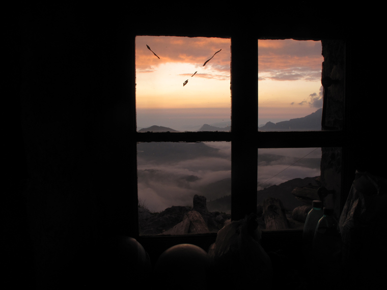 Room with a view: sunset at the Gramusset refuge | Martin Chester