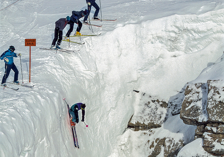 Doug Coombs, Corbet's Couloir, Jackson Hole, WY