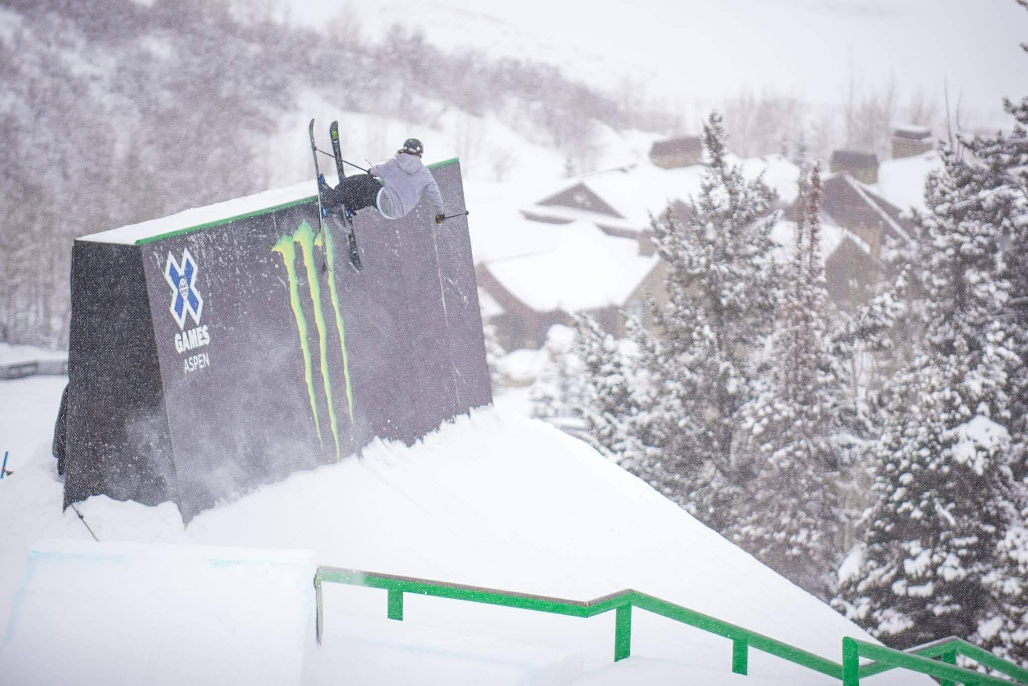 Mixing it up on the X Games Slopestyle course in Aspen | Credit: Rachel Bock (https://www.instagram.com/b0ckmeister)