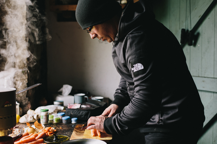 Expedition chef Kieran rustles up an energy-packed meal |Liz Seabrook Photography