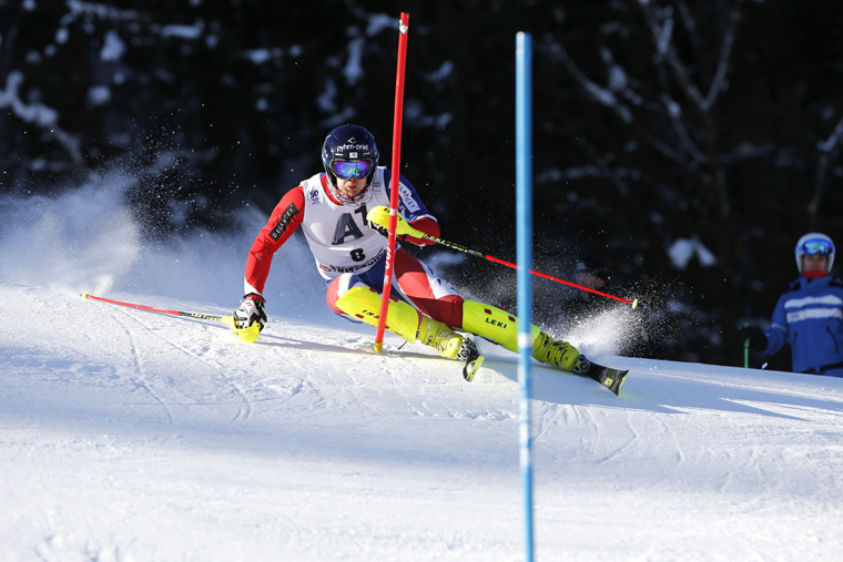 Dave Ryding on route to the podium in Kitzbühel | Zoom Agency